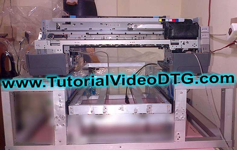 cara membuat printer dtg dengan video