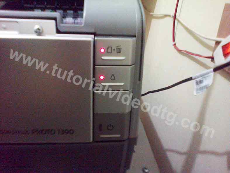 tombol indikator printer dtg