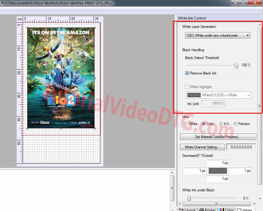 install software print kaos untuk print DTG